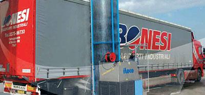 Мобилни едночеткови и портални автоматични автомивки за измиване на камиони, автобуси и бусове ITECO Италия