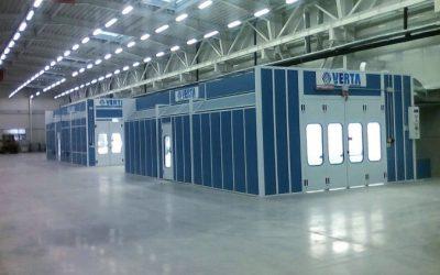 ИНТЕРБУЛИТ ЕКИП ЕООД  достави, монтира и пусна в експлоатация във фабрика на ПАЛЕМОНТЕХ индустриална нестандартна камера за обезмасляване