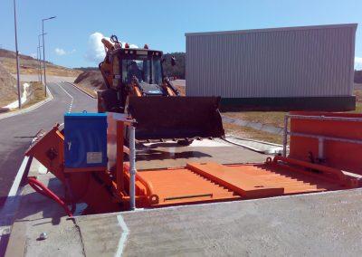 Инсталации за измиване на гуми и шасита на товарни автомобили