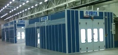 Бояджийски камери, зони за предварителна подготовка и специализирано оборудване за бояджийски цехове NOVA VERTA Италия