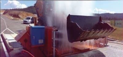 Инсталации за измиване на гуми и шасита на товарни автомобили до 50т. ENTRA и машини за измиване на гуми на леки автомобили TECNOLUX Италия
