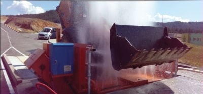 Инсталации за измиване на гуми и шасита на товарни автомобили до 50т. ENTRA и машини за измиване на гуми на леки автомобили CORGHI Италия